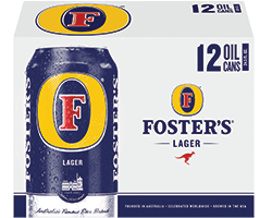Foster's 12pk Oil Cans