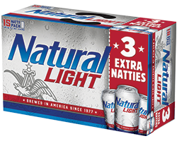 Natural Ice, Natural Light, Natty Daddy 15pk Cans