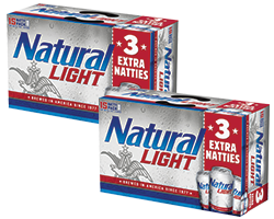 Natural Light - Two 15-pack Cans