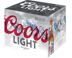Coors Light 20pk Bottles