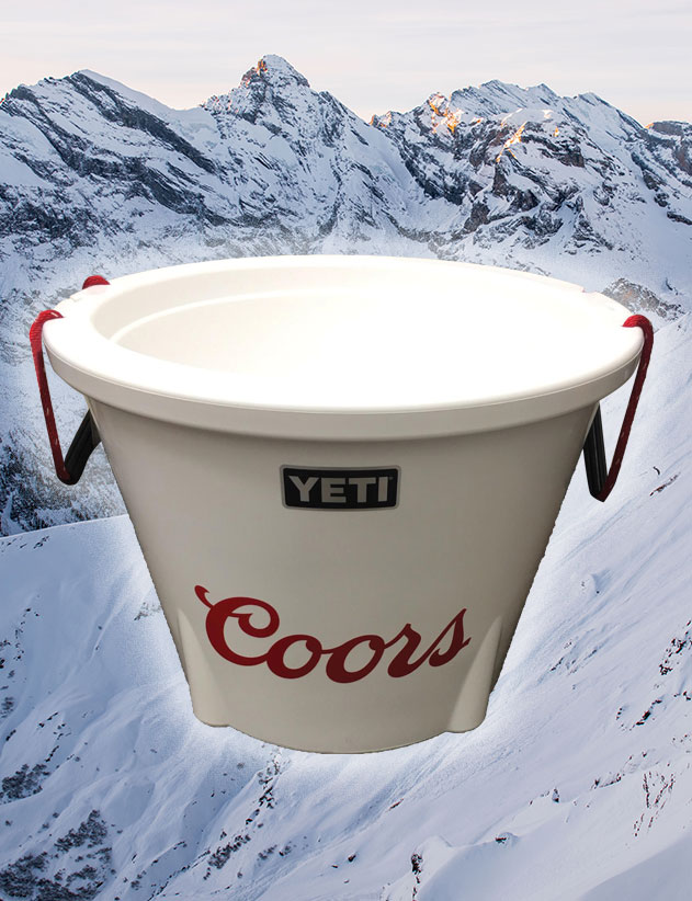 With this Yeti Cooler